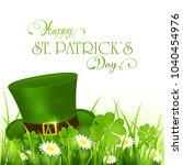 green hat of leprechaun in...   Shutterstock . vector #1040454976