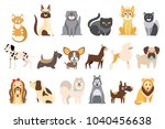 cartoon collection of funny... | Shutterstock .eps vector #1040456638
