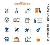education vector icons  | Shutterstock .eps vector #1040456992