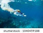 happy family   active teenage... | Shutterstock . vector #1040459188