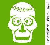 skull icon white isolated on...   Shutterstock . vector #1040461672