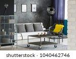 monochromatic sitting room... | Shutterstock . vector #1040462746