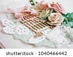 postcard in the technique of... | Shutterstock . vector #1040466442