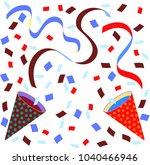 celebration cracker bonbon    Shutterstock .eps vector #1040466946