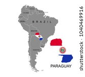 territory of paraguay on south... | Shutterstock .eps vector #1040469916