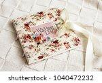 wedding handmade album.... | Shutterstock . vector #1040472232