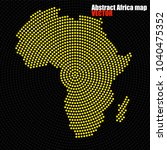 abstract africa map of radial... | Shutterstock .eps vector #1040475352