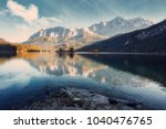 impressive autumn landscape the ... | Shutterstock . vector #1040476765