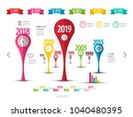business report timeline... | Shutterstock .eps vector #1040480395