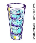 glass with water and ice.... | Shutterstock .eps vector #1040484196
