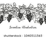 seamless vector illustration of ... | Shutterstock .eps vector #1040511565