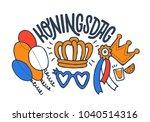 koningsdag design template for... | Shutterstock .eps vector #1040514316