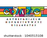 vector of colorful bold font... | Shutterstock .eps vector #1040515108