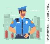 police officer  policeman ... | Shutterstock .eps vector #1040527462