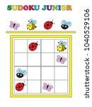 game for children  sudoku game... | Shutterstock . vector #1040529106