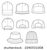 63ffec7c1f8 Hat Beanie Design 2018 Illustration Flat Stock Vector (Royalty Free)  1040531008 - Shutterstock