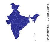 high detailed blue vector map ...   Shutterstock .eps vector #1040533846