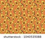 avocado pattern  vector... | Shutterstock .eps vector #1040535088