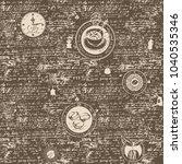 vector seamless pattern on the... | Shutterstock .eps vector #1040535346
