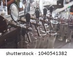 ready to pint of beer on a bar...   Shutterstock . vector #1040541382