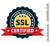 ssl certified label illustration | Shutterstock .eps vector #1040541526