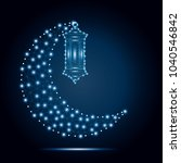 ramadan kareem. vector islam... | Shutterstock .eps vector #1040546842
