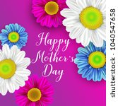 happy mother's day layout... | Shutterstock . vector #1040547658