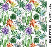 watercolor seamless pattern... | Shutterstock . vector #1040547952