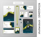 corporate identity template... | Shutterstock .eps vector #1040554126