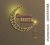 beautiful islamic patterns...   Shutterstock .eps vector #1040555488