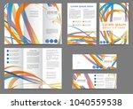 set of color brochure template... | Shutterstock .eps vector #1040559538
