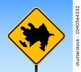 azerbaijan map road sign.... | Shutterstock .eps vector #1040564332