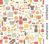 seamless pattern with shopping... | Shutterstock .eps vector #104056652