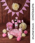 Small photo of Newborn girl bed prop for studio photography.