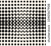 vector geometric halftone... | Shutterstock .eps vector #1040567908