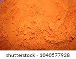 vibrant orange gulal  colour  | Shutterstock . vector #1040577928