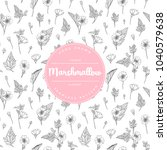 vector hand drawn floral... | Shutterstock .eps vector #1040579638