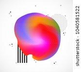 abstract neon creative liquid... | Shutterstock .eps vector #1040581522