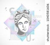 trendy sculpture modern design | Shutterstock .eps vector #1040581606