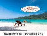 relax on beautiful beach.... | Shutterstock . vector #1040585176