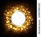 round gold sign with text space ... | Shutterstock . vector #1040588182