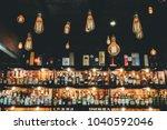 old vintage lighting decorate...   Shutterstock . vector #1040592046