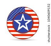 united state of america flag on ... | Shutterstock . vector #1040609152