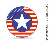 united state of america flag on ... | Shutterstock . vector #1040609158