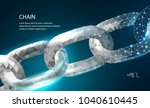 chain. blockchain link sign low ... | Shutterstock .eps vector #1040610445