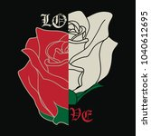 The White And Red Rose. Love. ...