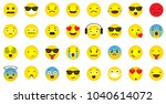 emoji icon collection with... | Shutterstock .eps vector #1040614072