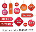 set of sale tags with text  ...