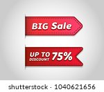 set of sale tags with text  big ... | Shutterstock .eps vector #1040621656