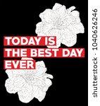typography slogan with flowers  ... | Shutterstock .eps vector #1040626246